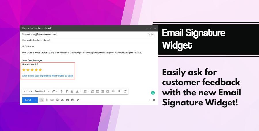 Email Signature Widget