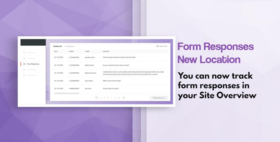 Form Responses New Location
